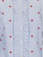 RED Valentino Heart Shirt - Stone blue
