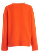 Sofie d'Hoore Sweater L/s Round Neck Cashmere - Orange
