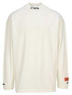 HERON PRESTON Turtle Neck Long Sleeves T-shirt - WHITE BLACK