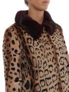 S.W.O.R.D 6.6.44 Leopard Print Detail Coat - Leo Ribes