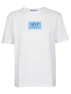 SJYP Logo Print T-shirt - Blue
