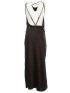 Nanushka Narita Dress W/s Long Satin - Black