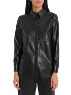 Nanushka Naum Vegan Leather Shirt - Nero