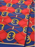 Gucci Gucci Interlocking G Rhombus Print Scarf - BLUE + RED GG WAVE