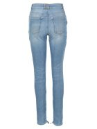 Balmain Hight Waist Skinny Denim Jeans - BLUE LIGHT