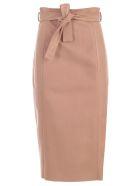 DROMe Belted Skirt - Beige