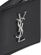 Saint Laurent Logo Wallet - Nero argento
