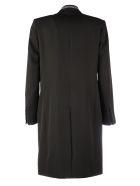 Givenchy Coat With Logo Details - Black