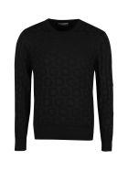 Dolce & Gabbana Jacquard Crew-neck Sweater - black