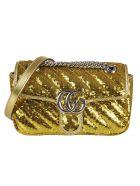 Gucci Sequin-coated Shoulder Bag - Gold