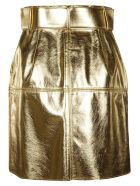 MSGM Buttoned Mini Skirt - gold