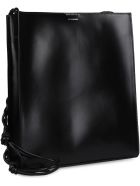 Jil Sander Tangle Leather Crossbody Bag - black