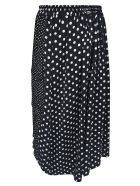 Y's Dotted Print Skirt - White/Black