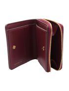 Tory Burch 'kira' Leather Wallet - Imperial Garnet