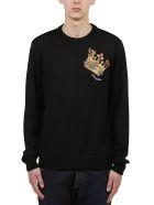 Dolce & Gabbana Embroidered Crown Sweater - Nero multicolor