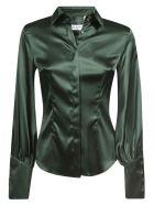 Eddy Monetti Plain Silk Shirt - Green