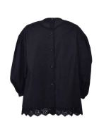 Simone Rocha Puff Sleeve Blouse - Black Clem Red