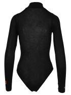 HERON PRESTON Embroidered Bodysuit - BLACK