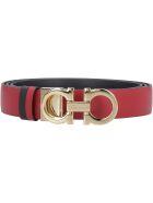 Salvatore Ferragamo Reversible Leather Belt - red