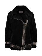 STAND STUDIO Colleen Faux Fur Biker Jacket - black