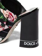 Dolce & Gabbana Floral Print Mules - Nero multicolor