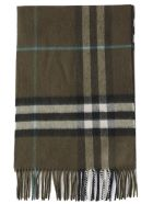 Burberry Giant Check Scarf - ANTIQUE GREEN