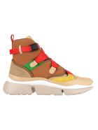 Chloé Chloe' High Top Sneakers - BEIGE RED