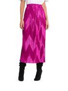 Givenchy Zig Zag Pleated Midi Skirt - Viola