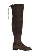 Stuart Weitzman Hi Boots With Lace On The Top/stivale Alto - Slate Slate