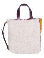 Marni White And Yellow Leather Tote Bag - WHITE YELLOW