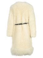 Givenchy Mid Length Fur Coat - IVORY WHITE