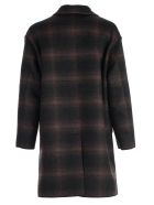 Lanvin Coat Over Double Breasted - Anthracite Brown