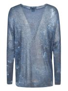 Avant Toi Glitter Applique Sweater - Deep