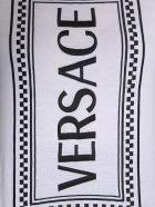 Versace Top With Embroidered Logo - White