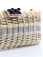 Rodo Straw Shoulder Bag - Nat/oro/arg