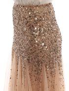 Blumarine Embroidered Long Skirt - Nudo/bronzo