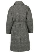 IENKI IENKI Coat - Woolmark grey check/yellow