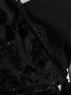 self-portrait Shirt L/s V Neck Naked Shoulder - Black Navy