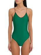 Oseree Travaille Maillot One Piece Swimsuit With Lace Detail - Verde