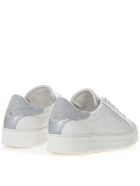 Crime london White Sneakers In Leather With Silver Details - White/silver
