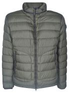 Moncler Slit Pocket Detailed Padded Jacket - Green