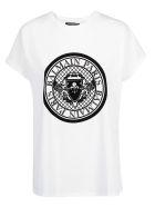 Balmain Flocked Coin T-shirt - Blanc noir