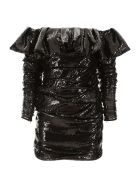 ATTICO Sequins Mini Dress - BLACK (Black)