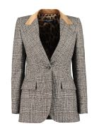 Dolce & Gabbana Wool Blend Single-breasted Blazer - brown
