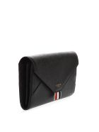 Thom Browne Black Leather Versatile Wallet - Black
