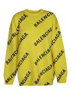 Balenciaga Multi-logo Sweatshirt - Giallo