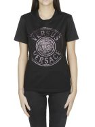 Versus Versace Logo Print T-shirt - BLACK/PINK