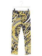 Young Versace 'barocco Icon' Leggings - Multicolor