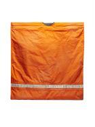 Calvin Klein Logo Emroidered Tote - Orange silver