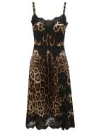Dolce & Gabbana Flared Dress - leopard print